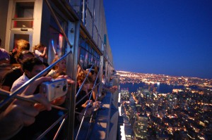 Kristy snapped this great photo of tourists atop the Empire State Building.