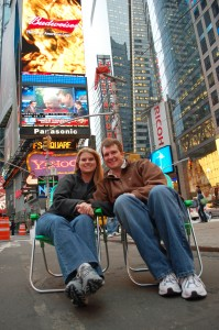 Camping in Times Square!