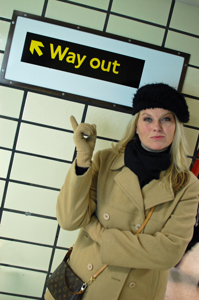 "No exit signs -- instead, ""way out"" signs!"