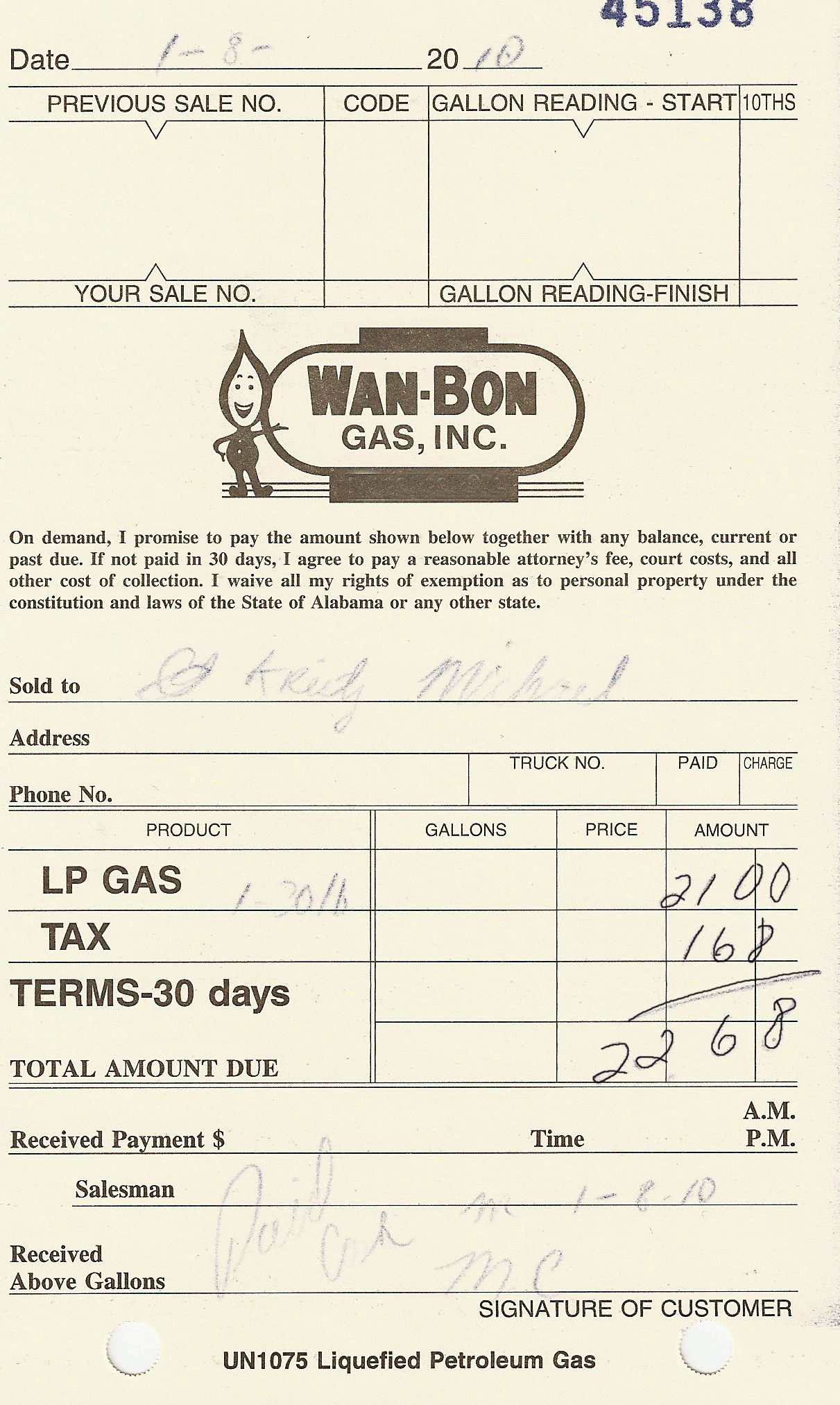 how to read your gas bill hot water