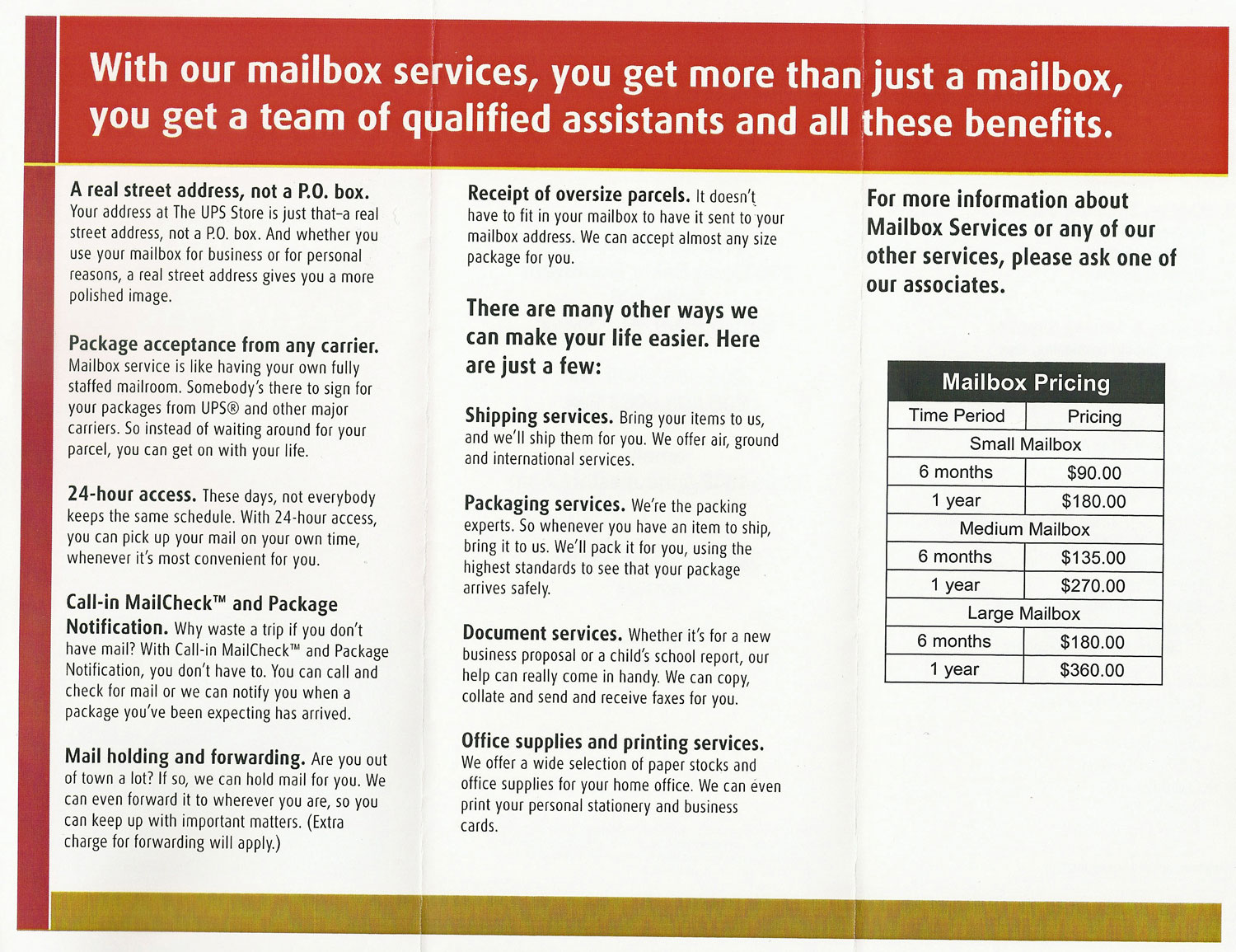 Glass door ups store -  Ups Brochure Scan Long Long Honeymoon Loloho Blog Archive Video Mailboxes At Ups Store Printing
