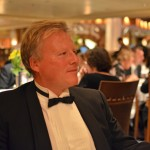 Our Dutch friend Dick during one of the formal dinners.