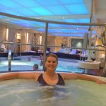 Hydrotherapy pool in the spa - awesome!