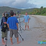 While strolling along the beach, I happened across this camera crew. Hopefully I won;t look too terrible on telly.