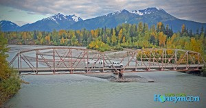 Crossing the bridge near Haines.