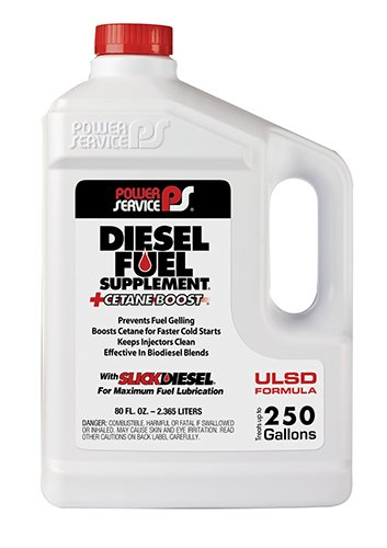 We're now running this diesel fuel supplement in our Ford F250 pickup truck. One 80 oz. container treats about 250 gallons of fuel. If it delivers the claimed fuel economy benefits, the additive pays for itself! (Click the pic for more info.)