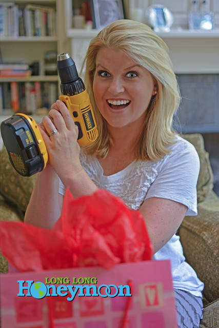 The joy! Guys, don't hesitate to treat your wife to a quality cordless drill. She will love it.