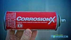 Polar bonding helps CorrosionX stick to metal like a magnet. We use it on our RV to prevent the spread of filiform corrosion.