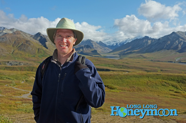 Rockin' the Tilley AirFlo in Alaska's awesome Denali National Park.