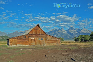 The world's most famous old barn is located about a mile from the Gros Ventre campground.