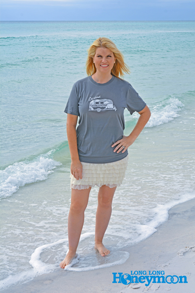 Sweet success! Kristy enjoys the surf in Seagrove Beach, Florida.