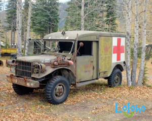 Our Yukon campground was populated by several vintage U.S. military vehicles that had been used in the construction of the Alaska Highway.